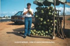 29)-VICENTE BORGES - EM SALVADOR - 1991 - COM 29 ANOS (1)